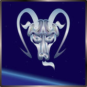 Capricorn sign zodiac — Stock Vector