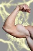 Man's arm showing biceps — Foto Stock
