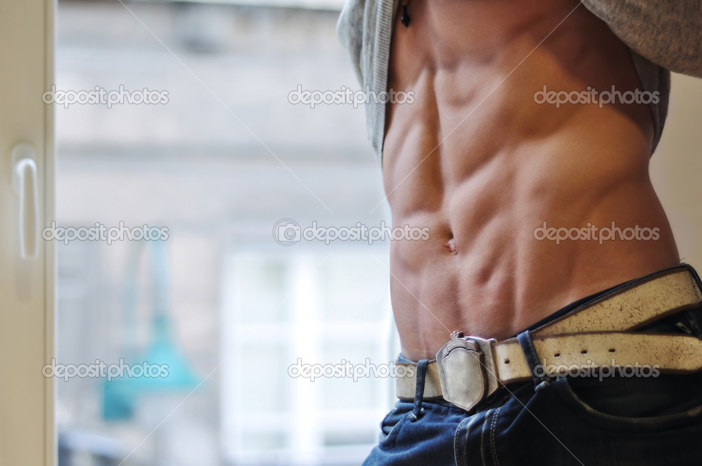 Athletic man with six-pack abs — Stock Photo #3306333