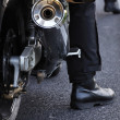 Stock Photo: Motorcycle exhaust