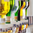 Stock Photo: Alcohol bottles