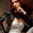Stock Photo: Red hair beauty