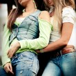 Jeans girls — Stock Photo