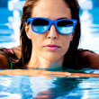 Stock Photo: In swimming pool