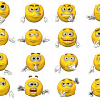 16 Emoticons - Stock Photo