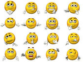 16 Emoticons — Stock Photo