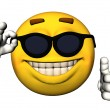 Cool emoticon — Stock Photo