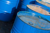Blue oil barrels (1) — Stock Photo
