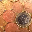 Stock Photo: Nicely positioned euro coins