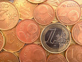 Nicely positioned euro coins — Stock Photo