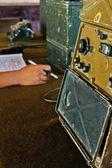 Military radio control room (2) — Stock Photo