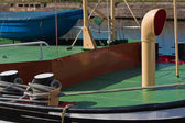 Anchored living boat (3) — Stock Photo