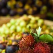 Rambutan, snow pears and mangosteen — Stock Photo