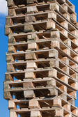 Pile of euro pallets (2) — Stock Photo