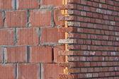 Brick wall construction — Stock Photo