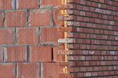 Construção de paredes de tijolo — Foto Stock