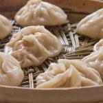 Dumplings on bamboo steamer (1) — Stock Photo #3183859