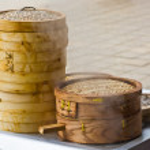 Bamboo dumpling steamer — Stock Photo #3183874