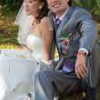 Bride and groom dreaming (2) — Stock Photo #3187695
