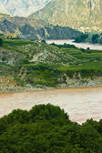 Bend of the jinsha river — Stock Photo