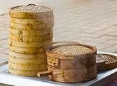 Bamboo dumpling steamer — Stock Photo