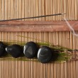 Incense and volcanic hot-stones — Stock Photo #3193313