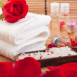 Aroma therapy with roses — Stock Photo