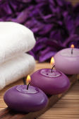 Purple spa relaxation (1) — Stock Photo