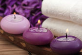 Purple spa relaxation (2) — Stock Photo