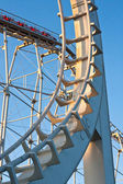Roller coaster in warm evening light — Stock Photo