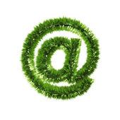 Email grass symbol — Stock Photo