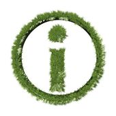 Grass inquiry symbol — Stock Photo