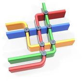 Colorful metro map symbol — Stock Photo