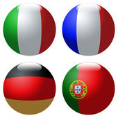 World-cup flags — Stock Photo