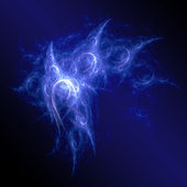 Blue chaos rays space — Stock Photo