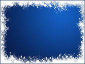 Blue snow frame — Stock Photo