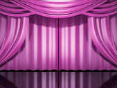 Pink stage drapes — Stock Photo