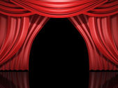 Red stage drapes — Stock Photo