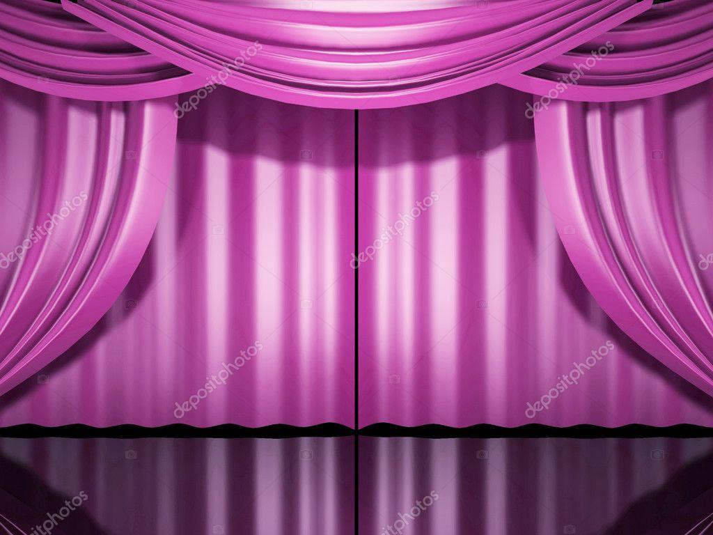 Purple stage curtains - Cortinas De Palco De Rosa Fotografias De Stock 169 Sgamez