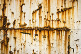 Rusty Metallic Wall — Stock Photo