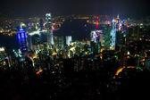 Scena notturna a hong kong — Foto Stock