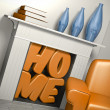 Stock Photo: Home sweet home