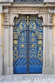 Lavishly embellished doors — Stock Photo
