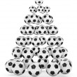 Soccer Fan's Christmas Tree — Stock Photo