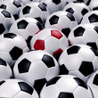 Group of soccer balls — Stock Photo #3413737