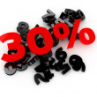 Sale -30% — Stock Photo