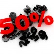 Sale -50% — Stock Photo