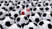 Group of soccer balls — Stock Photo