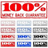 Money back guarantee — Stock Vector