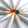 Pencils sun — Stock Photo